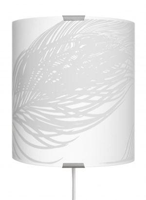 Anser-S on seinävalaisin jossa on metallinen harmaa kiinnitysosa ja kaareva lasi. Lasissa on höyhen kuvio.