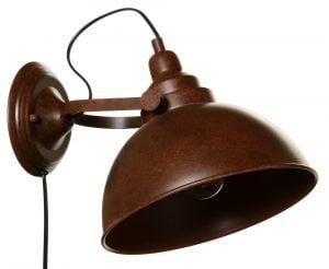 Elma-S on metallinen seinävalaisin jonka väri on ruskea. Johto on musta.