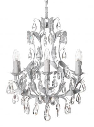 Tilda-6 on kristallikruunu jossa on kuusi kantaa. Valaisimen runko on väriltään antik valkoinen seassa ripaus kultaa.