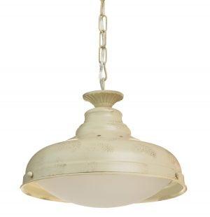 Amanda-30 on metallinen, riippuva kattovalaisin. Sen runko on väriltään antikvalkoinen ja lasi on luonnonvalkoinen.