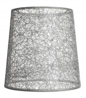 Kattolampun varjostin jonka materiaali on laminoitu kangas. Kippivarjostin on väriltään harmaa.