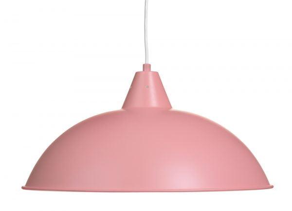 Lulu on metallinen, riippuva kattovalaisin. Valaisin on väriltään pinkki.