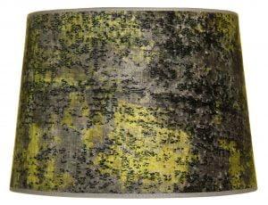 Lampunvarjostin jonka väri on vihreä. Varjostin on materiaaliltaan laminoitua kangasta.
