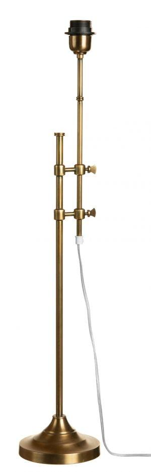 Metallinen lampunjalka jonka väri on antiikki messinki.