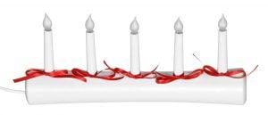 Torekov-5 -jouluvalo, valkoinen