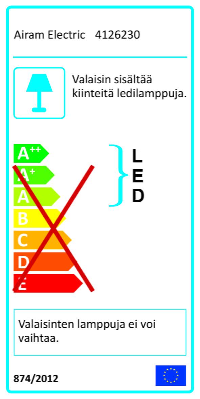 Airam Basic-LED yleisvalaisin, 18W, energiamerkki