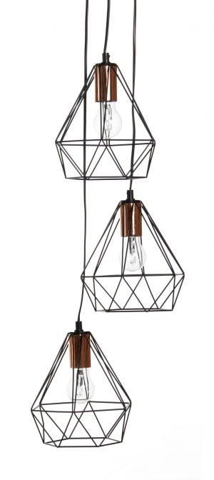 Hope-3 on ryhmävalaisin, jossa on kolme lampunkantaa. Rungon väri on musta, lampunkannat ovat kuparin väriset.